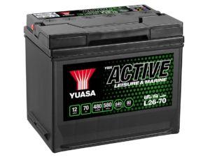 Laivām paredzēts akumulators Yuasa L26-70